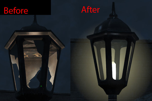 Repaired and Functioning Colonial Lampposts - Homemaker Req at ...