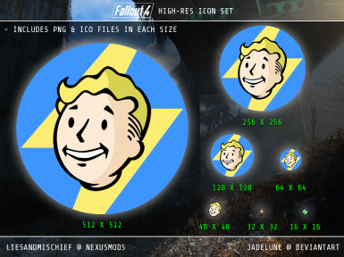 FALLOUT 4 HIGH-RES ICON SET (.png and .ico)