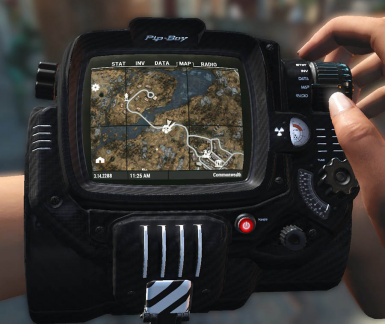 Carbon Fiber Pip-Boy with White Accents