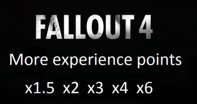 More experience points options