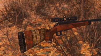 Hunting rifle wood stock re-texture