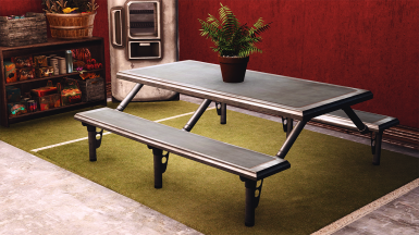Picnic table vault style