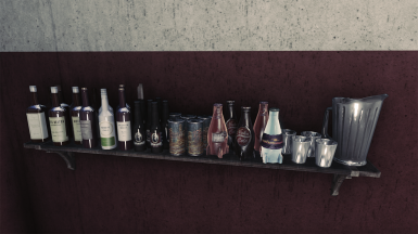 Bar shelf
