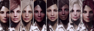 Femshepping's 8 Unique Female Faces (Faceripper and LooksMenu compatible)