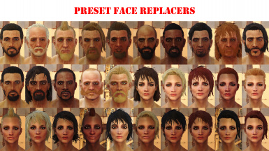 Preset Face Replacers
