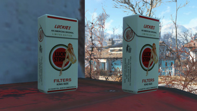 lucky strike cigarette pack clean