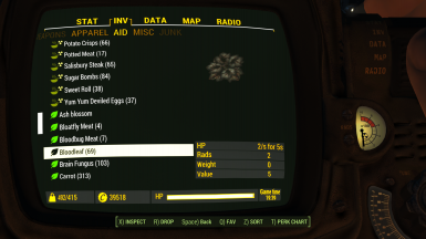 Pipboy2 Inventory3 Aid2 Food2 1 1