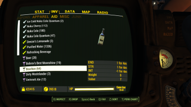 Pipboy2 Inventory3 Aid4 Drink 1 1