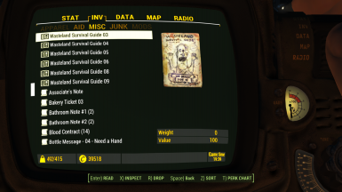 Pipboy2 Inventory4 Misc6 Magazines 1 1