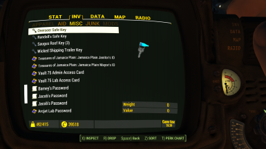 Pipboy2 Inventory4 Misc4 Keys 1 1