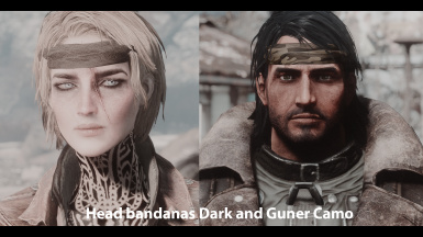 Head bandanas Dark and Gunner Camo