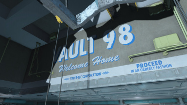 Vault 98 Welcome Home sign