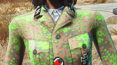 The Spring pattern camouflage- Replaced the tshirt with an actual Wehrmacht service shirt for all camo patterns