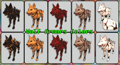 wolf armor colors