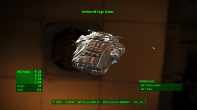 Upgraded Helmeted Cage Armor