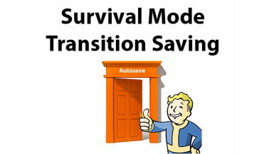 Survival Mode Transition Save