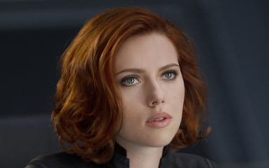 Scarlett johansson black widow face