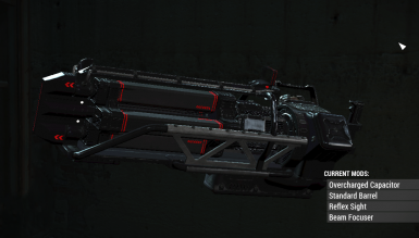 Black and Red Gatling Laser