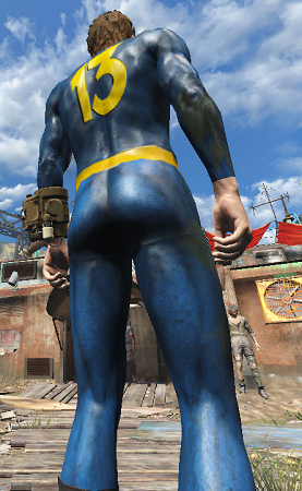 Male classic vault suit  back