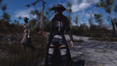 Dark Recolor of Alice Long Coat from Wasteland Fashion