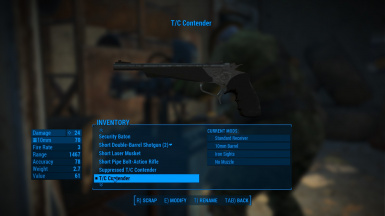 Thompson-Center Contender at Fallout 4 Nexus - Mods and