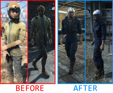 Pilots comparison without and with mod