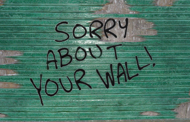 Sorry About Your Wall (Random Graffiti)