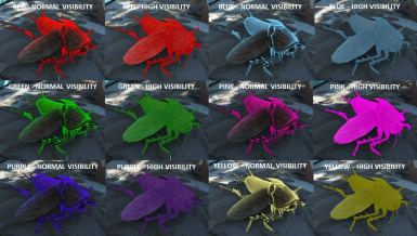 Available colors in mod