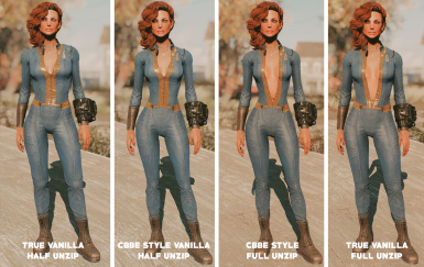 unzipped vault suit vanilla body conversions by femshepping at
