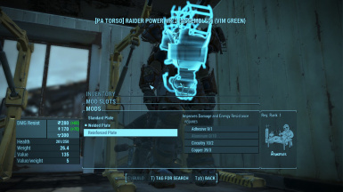 New Upgrades for Raider Power Armor