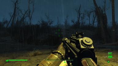 Snub Barrel and standard ironsights - first person
