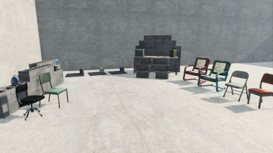 Guard Posts (mats, cinderblock, chairs)