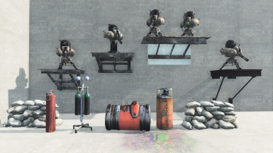 Turret Stands, Sandbags, Explosive Objects