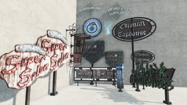Diamond City Signs