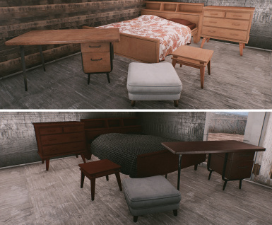 Furniture Sets Lightwood and Redwood