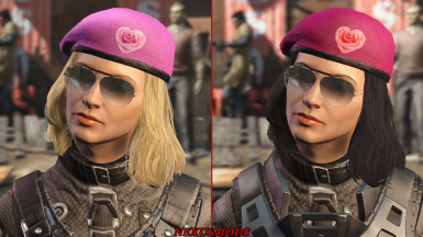Beret for a female character.