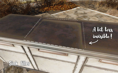 Sinkfill more obvious on ruined counters