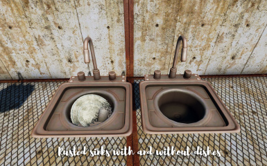 You can have rusted sinks