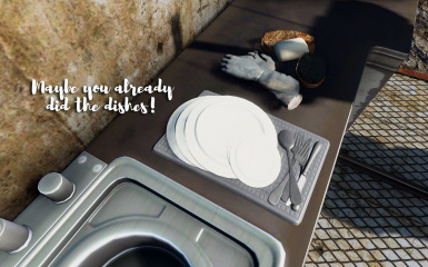 Maybe you already did the dishes