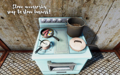Stovetop accessories snap to the burners