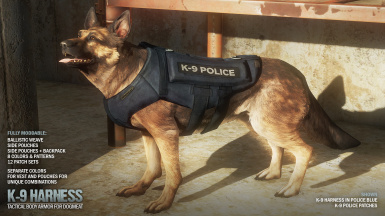 Police Blue w K9 Patches