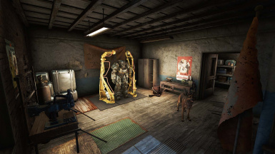 Power Armor and Workstation area on second floor landing