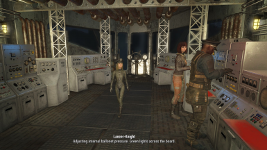 Child Cabin Girl getting status update on Prydwen