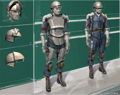 Concept Art Style Synth Uniform
