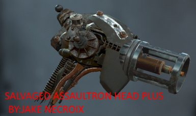 Salvaged Assaultron Head Plus