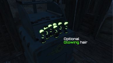 Glowing hair preview