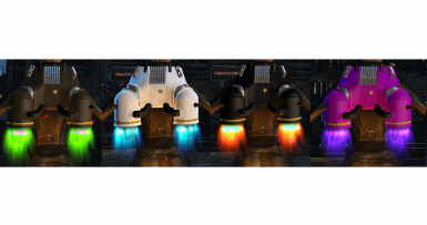 4 flame colors that can be changed in game