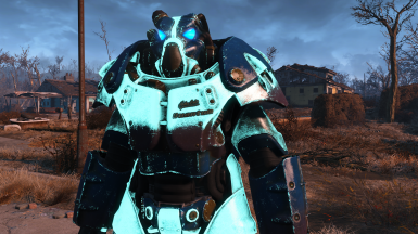 Glowing Nuka Cola Quantum X01 Power Armor