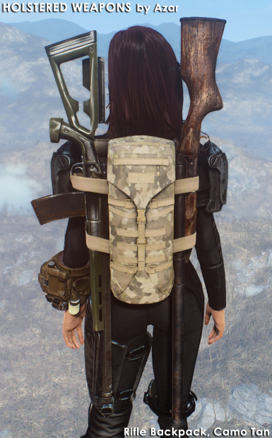 Rifle Backpack Camo Tan