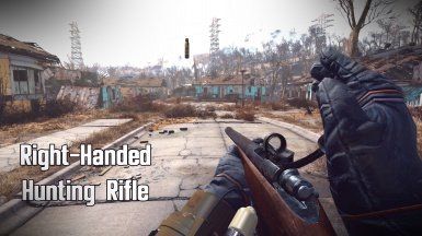 Right-Handed Hunting Rifle